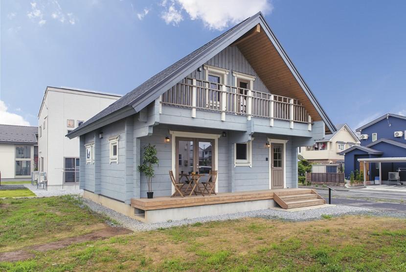 【ホンカ八戸モデルハウス】 高性能ログ材を使用した 北欧テイストの優等生プラン